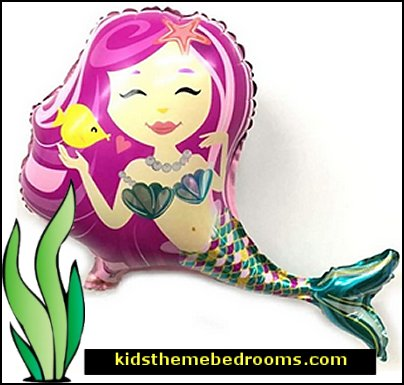 Mermaid balloon  Foil Balloon  mermaid party decorations - mermaid party ideas - mermaid themed birthday party - ocean theme party decorations - under the sea party - little mermaid birthday party ideas - beach party - water theme parties - mermaid table decor - party props  under the sea birthday party - under the sea theme party table
