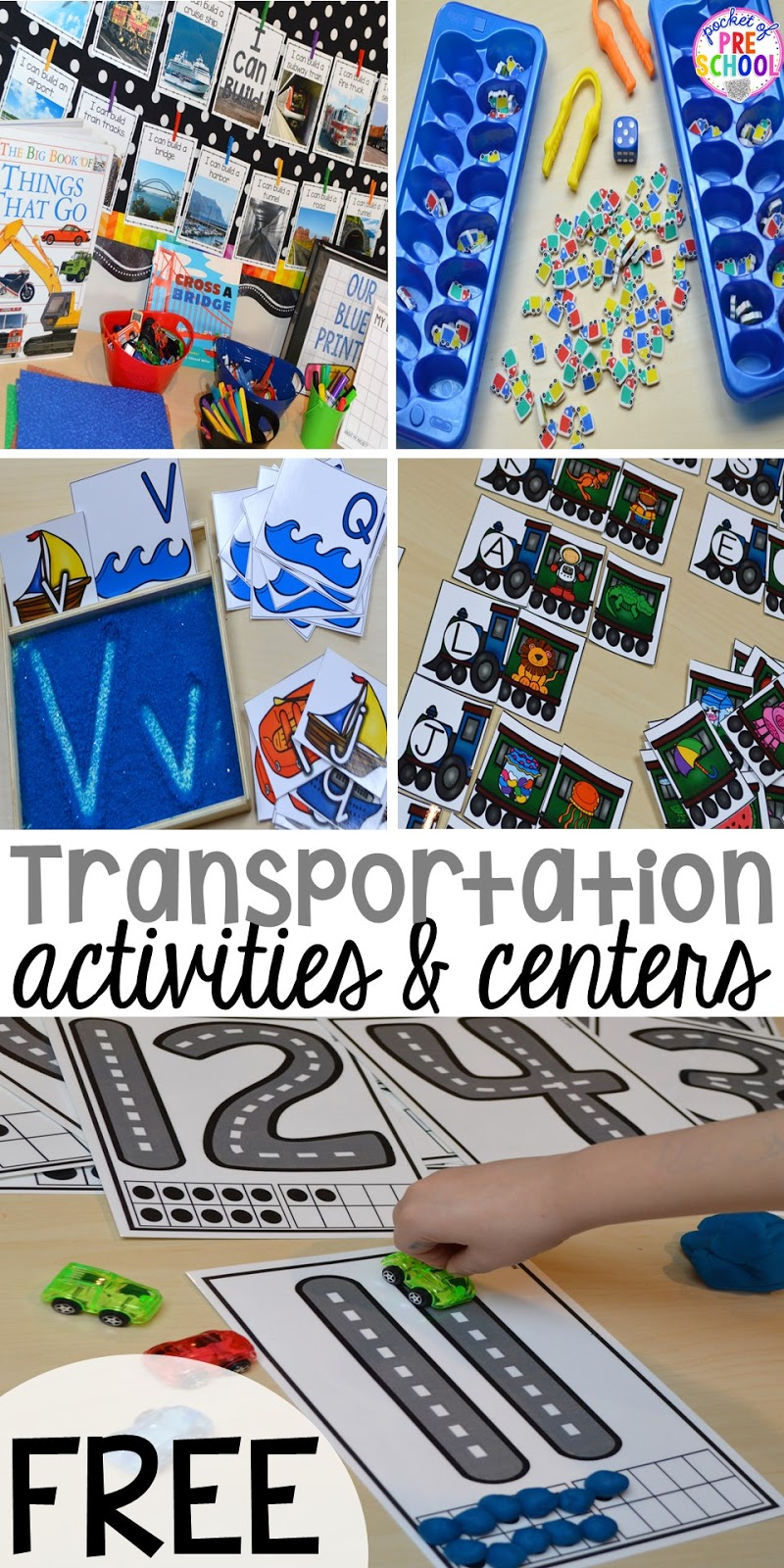transportation centers and activities road number mat freebie too