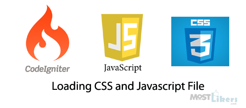 Loading CSS and Javascript File in codeigniter