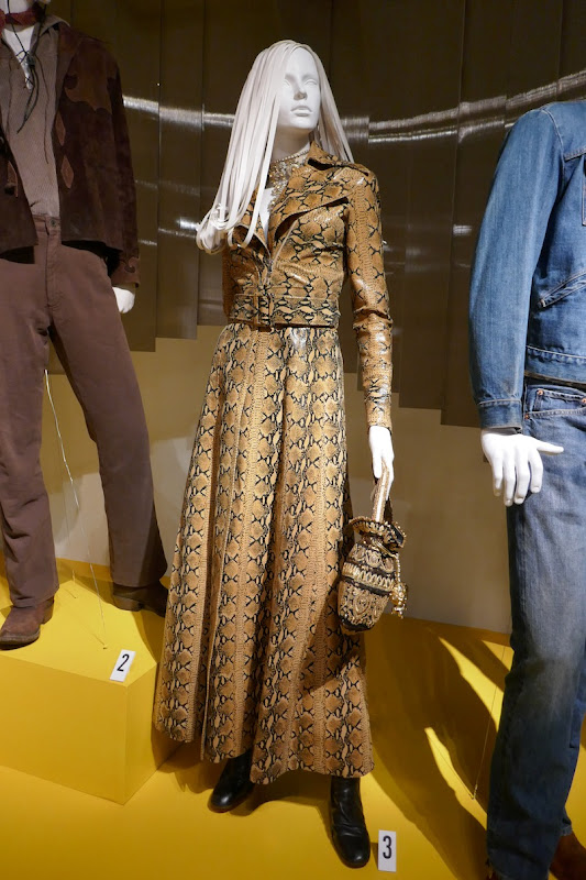 Margot Robbie Once Upon a Time in Hollywood Sharon Tate snakeskin dress