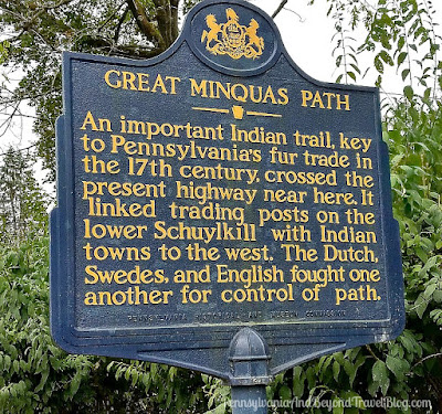 Great Minquas Path Historical Marker in West Chester, Pennsylvania