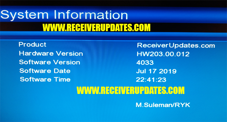 GX6605S HW203 00 012 HD RECEIVER NEW SOFTWARE TEN SPORTS