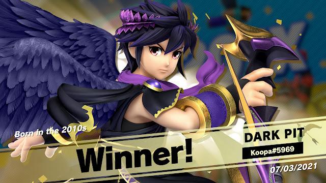 Super Smash Bros. Ultimate Born in the 2010s online event tourney Dark Pit winner champion
