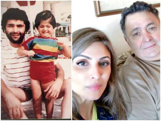 रिद्धिमा ने पापा ऋषी के साथ शेयर की बचपन की फोटो