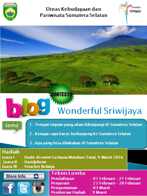 Blog Contest Wondeful Sriwijaya
