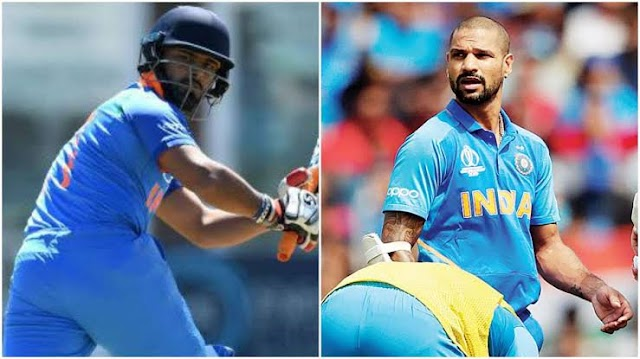 Shikhar Dhawan ruled out of World Cup with thumb break:  Rishabh Pant joins Indian Squad.