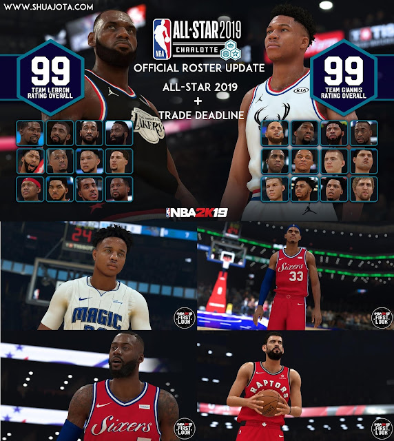 NBA 2K19 - Official Roster Update All-Star 2019 + Trade