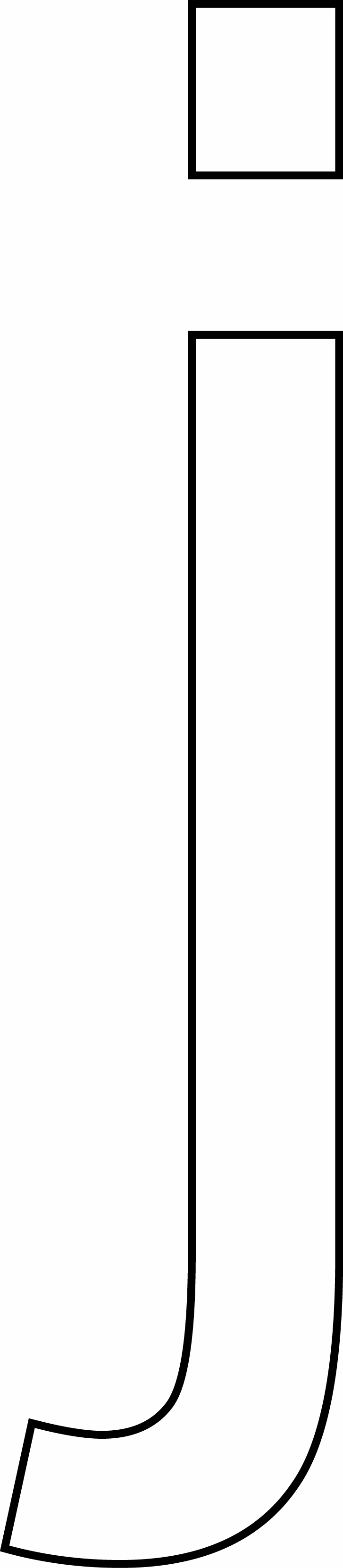 Letra J - minúscula para imprimir