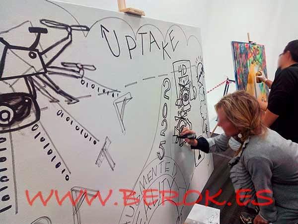 Graffitis para talleres de empresas