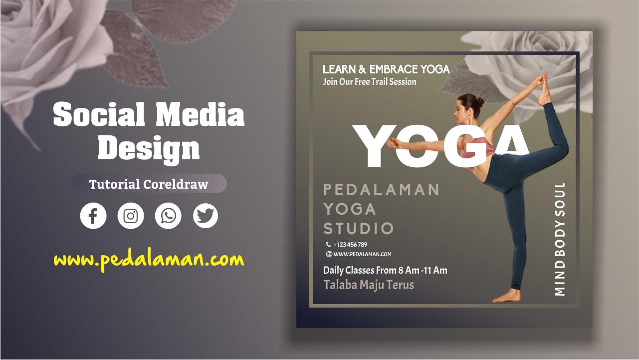 Membuat brosur promosi yoga