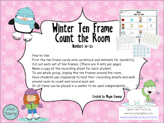 Winter Ten Frame Count Around the Room