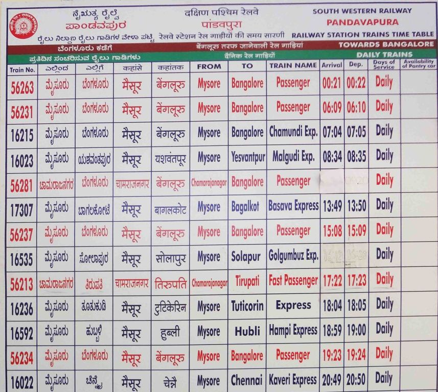 Train timings from pandavapura to bangalore also travel mysore by find your world rh wonderfulisland