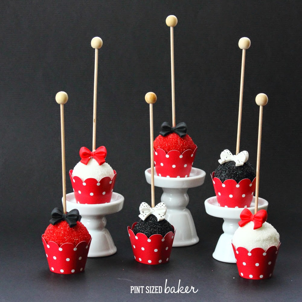 These Red, White and Black Fancy Cake Pops will look great on your dessert tablescape and will totally impress your guests. You won't believe how easy they are to make.