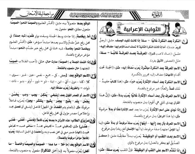 مراجعة ليلة امتحان اللغة العربية رضا الفاروق ثانوية عامة 2021 طبقا لنظام البابل شيت