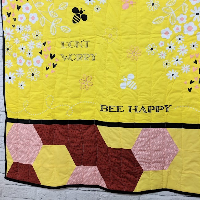 Don't worry bee happy quilt