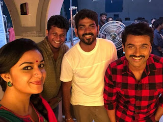 Keerthy Suresh and thats a wrap up for ThaanaaSerndhaKoottam TSK Thank you Suriya sir VigneshShivn brodinesh bro Anirudh Ravichander ramyakrishnan mam StudioGreen Pongalukku varrom