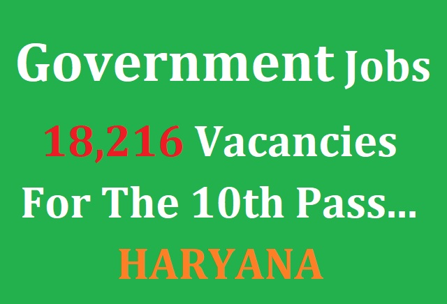 Government Vacancies at 18000 Posts For The 10th Pass