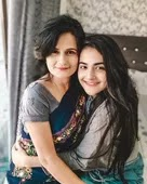 Debattama Saha with her mother