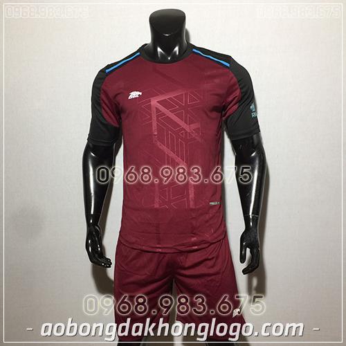 Áo bóng đá ko logo Eureka Raki màu đỏ đô