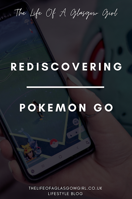 Pinterest Image for Rediscovering Pokémon Go - Revisiting a childhood favourite and finding my love for the Pokémon go app which helped get my child excited about going for walks again on Thelifeofaglasgowgirl.co.uk