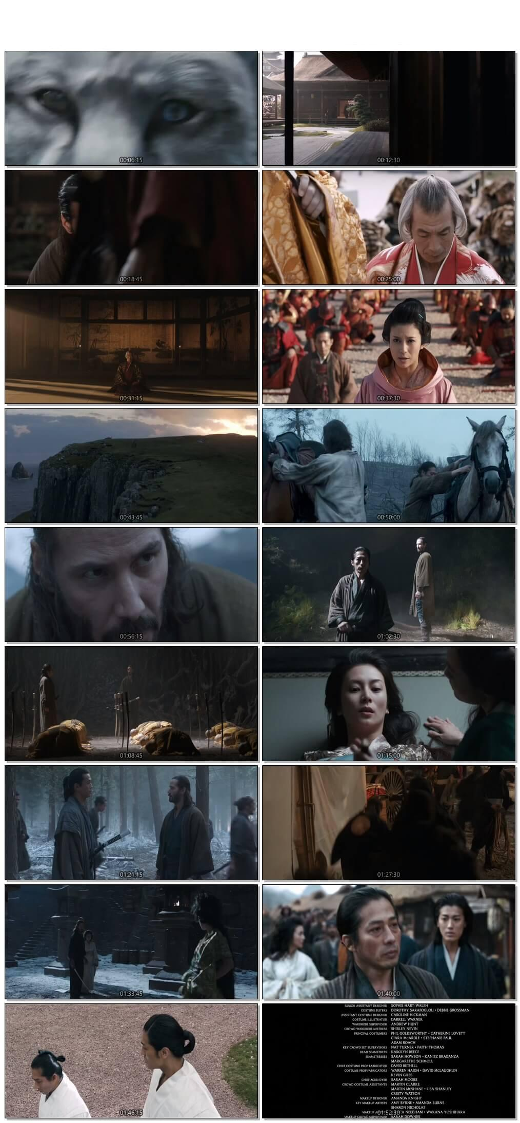 Screen Shot Of 47 Ronin 2013 300MB Full Movie Hindi Dubbed Free Download 720P BRRip HEVC