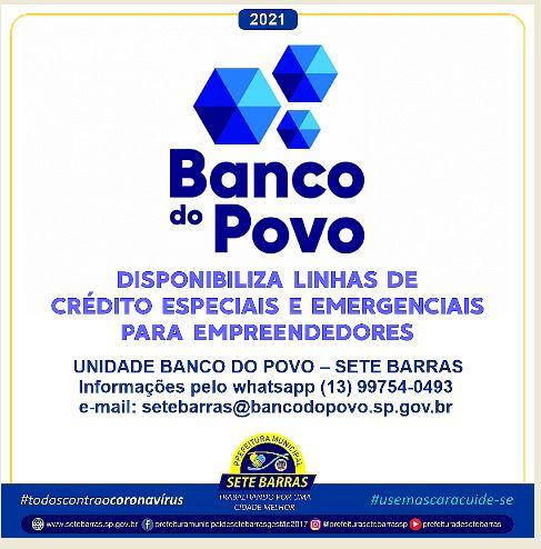 BANCO DO POVO DISPONIBILIZA LINHAS DE CRÉDITO ESPECIAIS E EMERGENCIAIS PARA EMPREENDEDORES