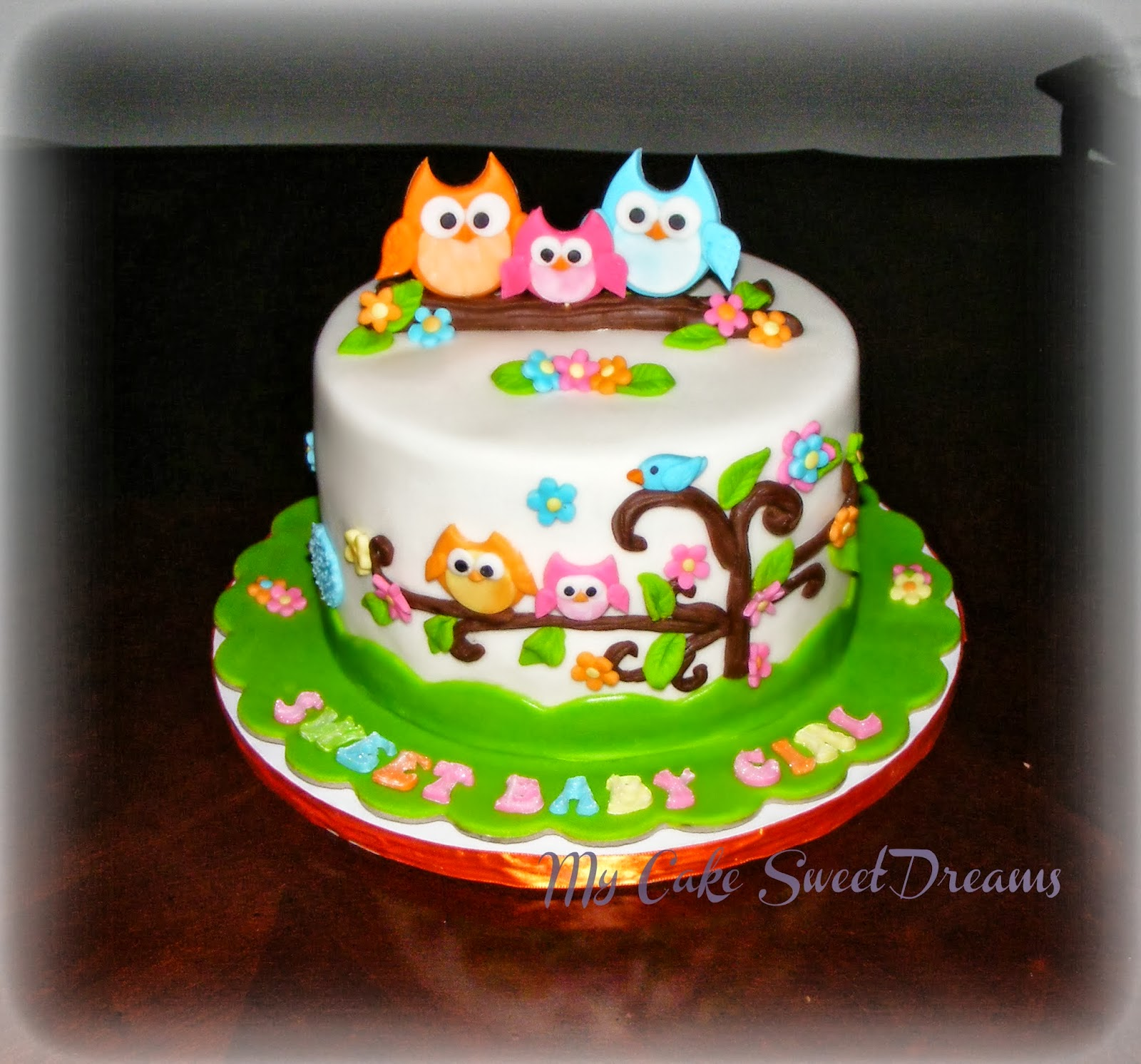 My Cake Sweet Dreams Happy Tree Baby Shower Cake Amp Cupcakes