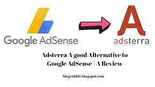 Adsterra a Good Alternative to AdSense | A Review