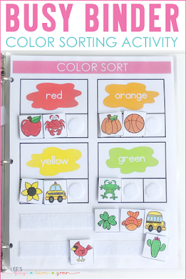 Color Sorting Busy Binder