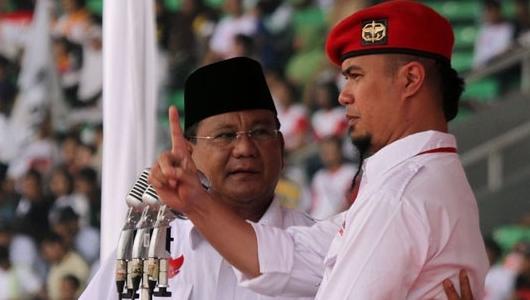 Prabowo: Negara Ini Punya UUD Tidak, Kok Ahmad Dhani Bisa Dipenjara?