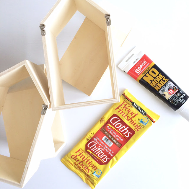 DIY Geometric Wall Shelf MinWax IDS17 Harlow & Thistle