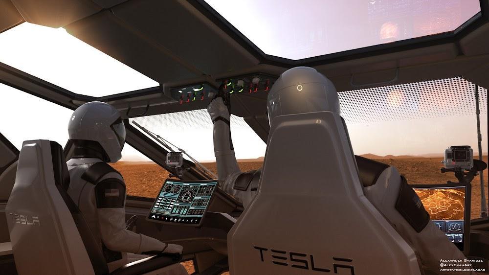 SpaceX Mars exploration rover by Alexander Svanidze - cockpit