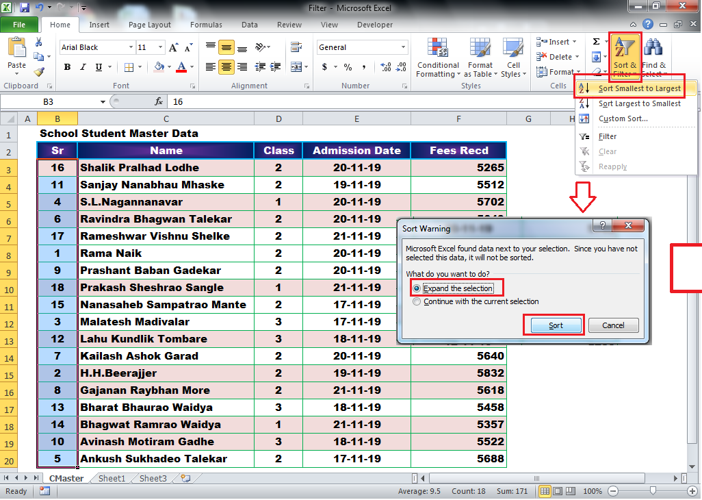 Learn Basic Data Sorting in MS Excel Data sort by Alphabetical Order & Reverse Alphabetical Order (A to Z & Z to A)