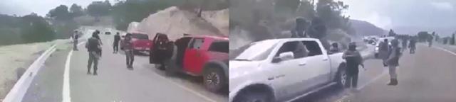 VIDEO;  Así es como patrulla el CJNG sus territorios, empecherados y bien armados