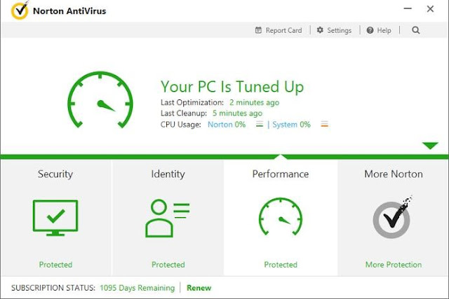 norton antivirus screenshot in top 5 antivirus software