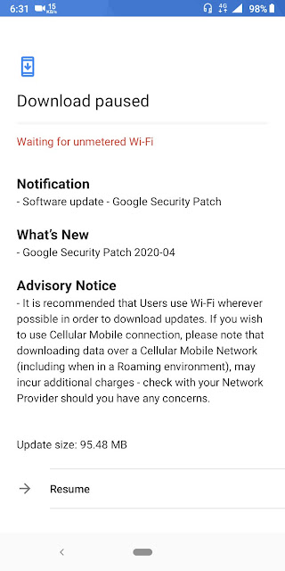 Nokia 3.1 Plus receiving April 2020 Android Security Patch