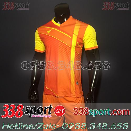 Áo đá bóng không logo màu cam