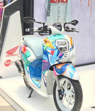 Pecinta Motor Modifikasi Virtual Meriahkan Genio Artwork Competition 2019