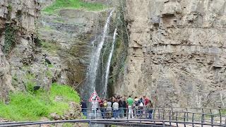 Waterfall in Tbilisi behind the Sulfur Bath