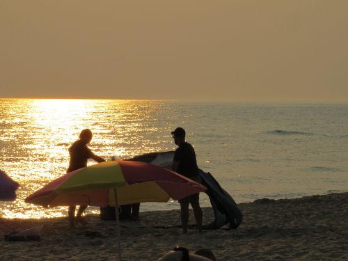 umbrella in the sun on the beach