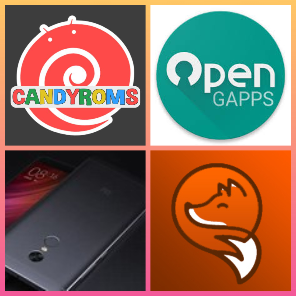 New CandyROM, OpenGapps, Orange Fox Recovery for Redmi Note