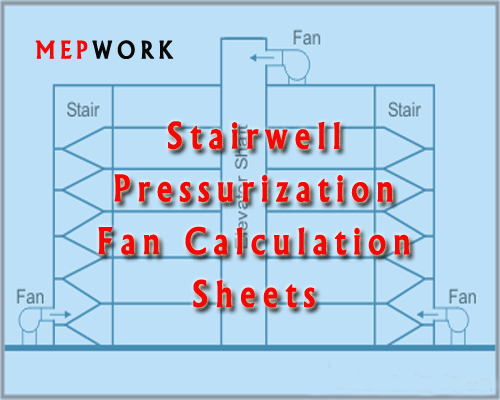 Download Staircase Pressurization Fan CFM Calculation Sheet - Free excel sheets xls