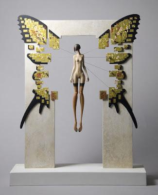 Green Pear Diaries, arte, escultura, John Morris, High Wire, Cuerda Floja