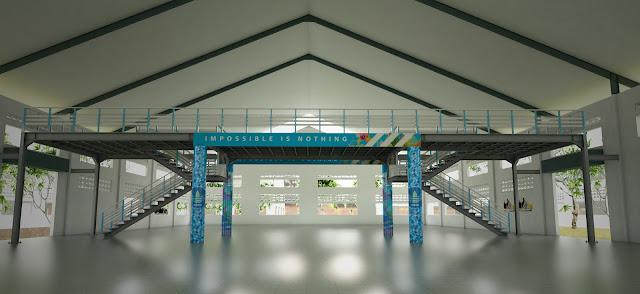 The One with Adidas Shoe Factory Sky-bridge - Part One steel construction artsitektur