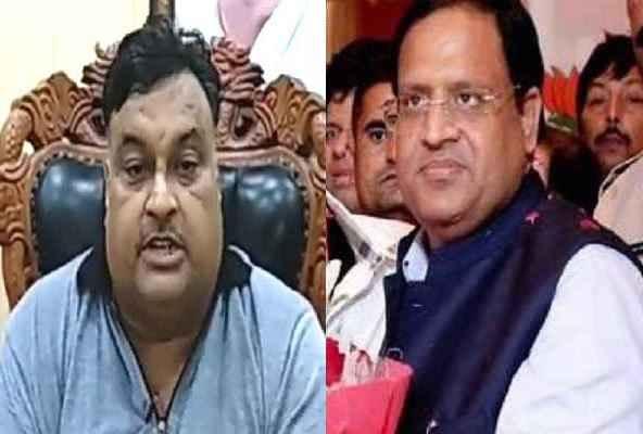 lakhan-singla-accuse-vipul-goel-politics-on-road-old-faridabad-market