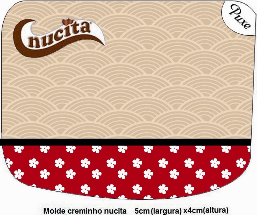 Etiquetas Nucita para Imprimir Gratis de Fiesta Estilo Japonés.