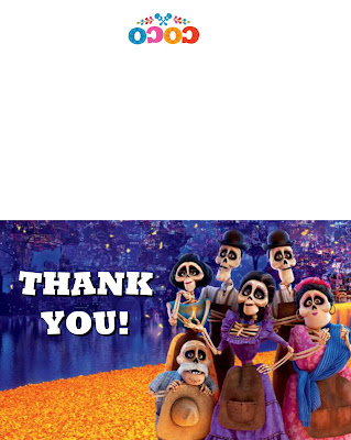pixar coco thank you cards