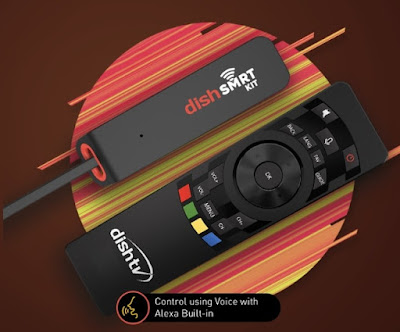Dish TV launched India's First Alexa Built-In DishSMRT Kit Device