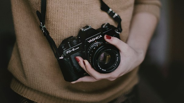 fotografer, fotografi, kamera, wartawan, foto memegang kamera