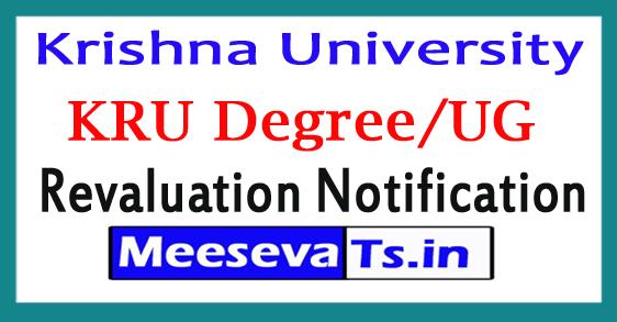 Krishna University Degree 4th Sem Revaluation Notification 2017